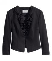 Піджак чорний з воланами H&M